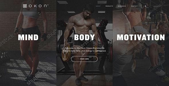 fitness website redesign screenshot 1