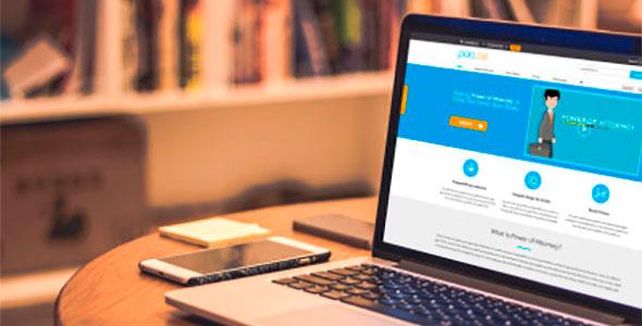 power of attorney website design and development screenshot 1