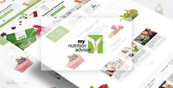 responsive web design for nutrition site screenshot 1